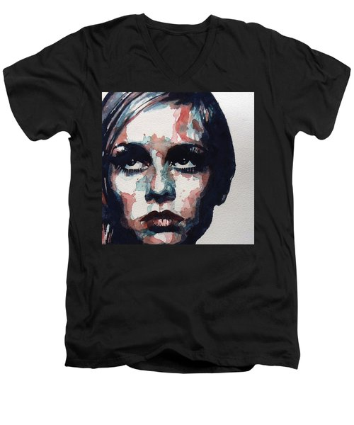 Sixties Sixties Sixties Twiggy Men's V-Neck T-Shirt
