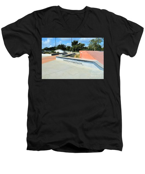 Men's V-Neck T-Shirt featuring the photograph Skate Park by Ray Shrewsberry