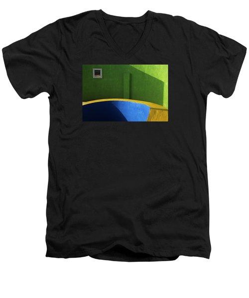Skc 0305 The Fundamental Colors Men's V-Neck T-Shirt by Sunil Kapadia