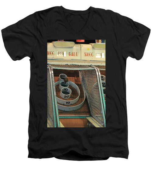 Skee Ball At Marty's Playland Men's V-Neck T-Shirt