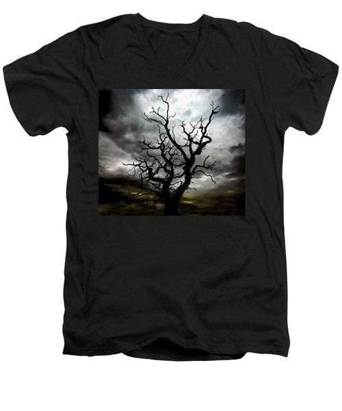 Skeletal Tree Men's V-Neck T-Shirt