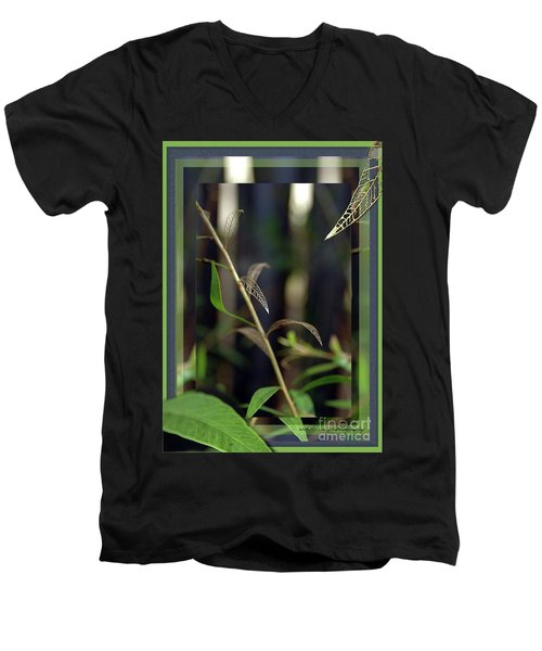 Men's V-Neck T-Shirt featuring the photograph Skeletons And Skin by Vicki Ferrari