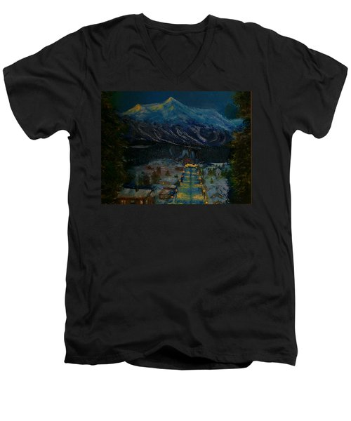Ski Resort Men's V-Neck T-Shirt