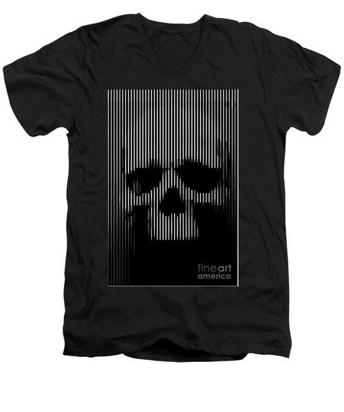 Skull Lines Men's V-Neck T-Shirt