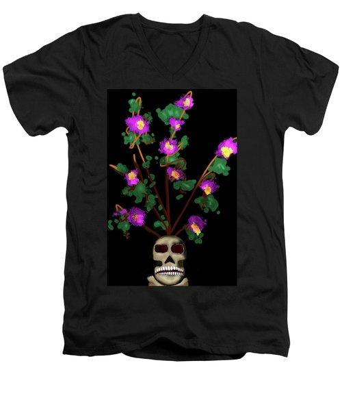 Skull Vase Men's V-Neck T-Shirt