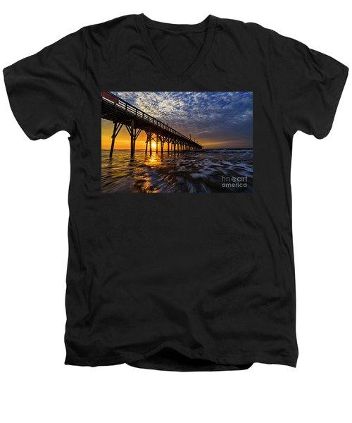 Sky Divided Men's V-Neck T-Shirt
