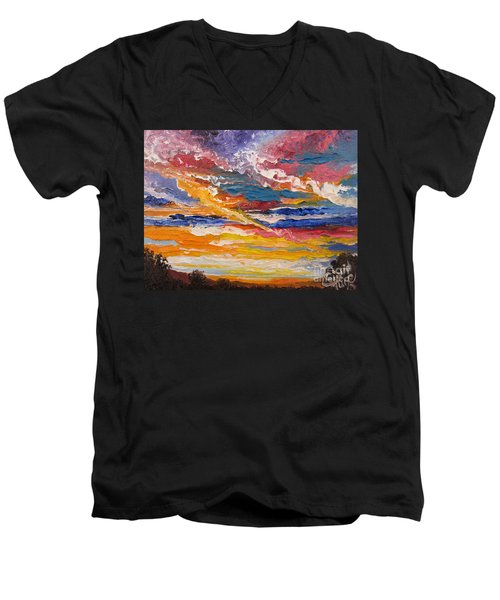 Sky In The Morning.             Sailor Take Warning  Men's V-Neck T-Shirt