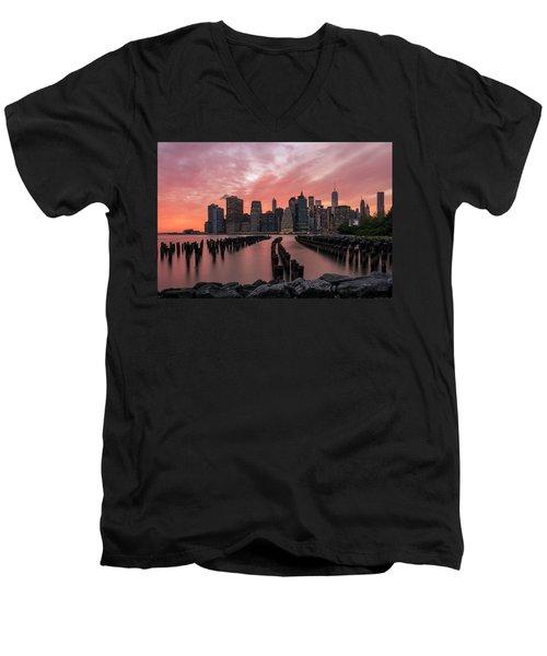 Sky Is Lit Men's V-Neck T-Shirt