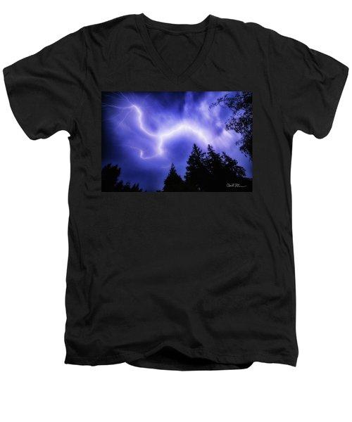 Sky Lightning Men's V-Neck T-Shirt