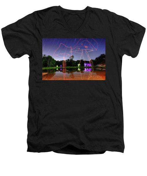 Sky Shrooms Men's V-Neck T-Shirt by Andrew Nourse