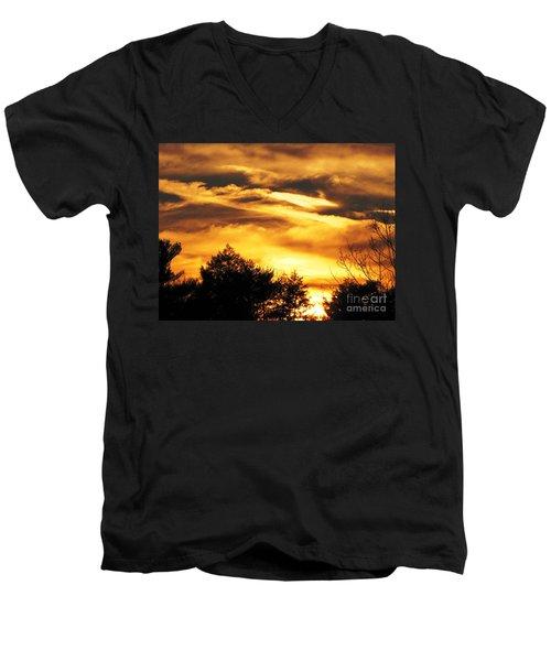 Sky Study 7 3/11/16 Men's V-Neck T-Shirt by Melissa Stoudt