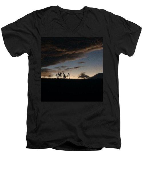 Skyline Men's V-Neck T-Shirt by Eli Ortiz