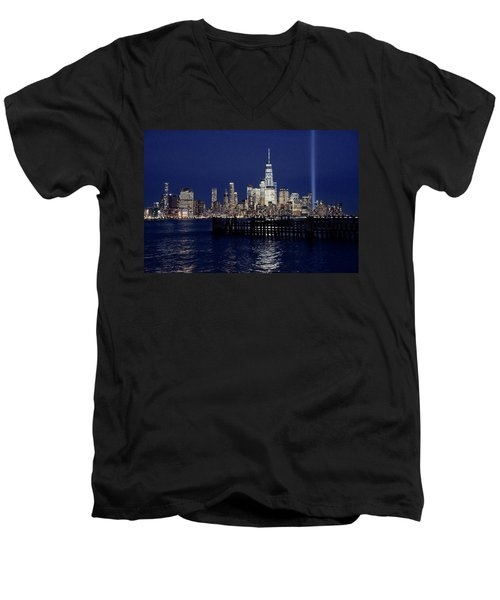 Skyline Lights Men's V-Neck T-Shirt