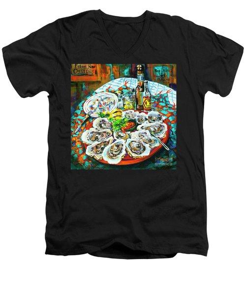 Slap Dem Oysters  Men's V-Neck T-Shirt