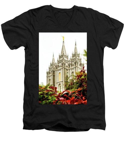 Slc Temple Angle Men's V-Neck T-Shirt