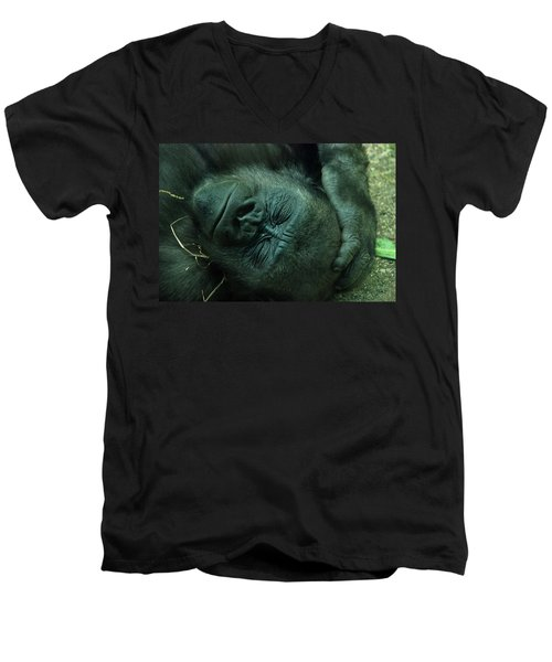 Men's V-Neck T-Shirt featuring the photograph Sleep Tight by Richard Bryce and Family