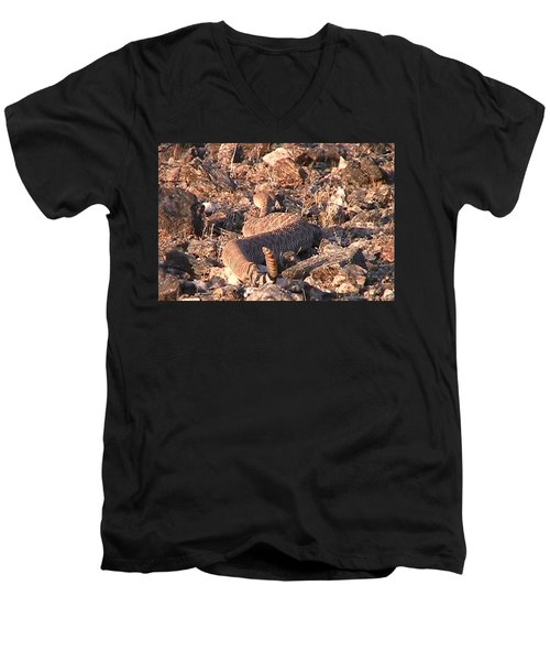 Slithering Away With Tail Held High Men's V-Neck T-Shirt