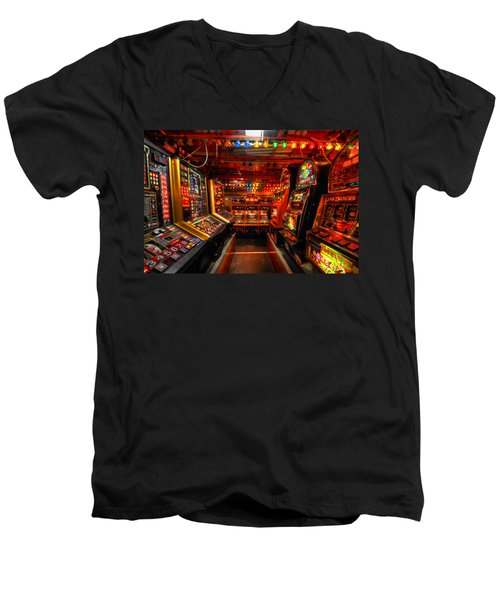 Slot Machines Men's V-Neck T-Shirt by Yhun Suarez
