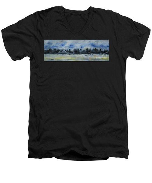 Slow Sail Home Men's V-Neck T-Shirt
