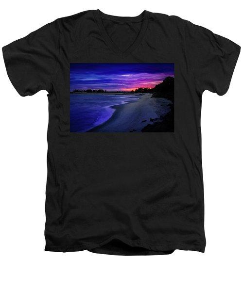 Slow Waves Erupting Clouds Men's V-Neck T-Shirt