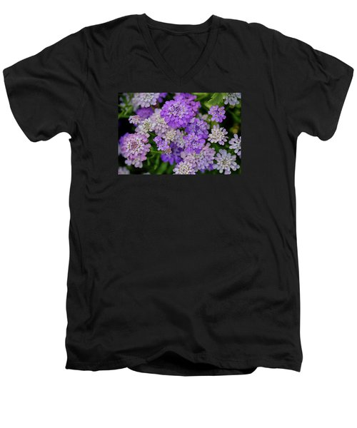 Small Pink Flowers 10 Men's V-Neck T-Shirt