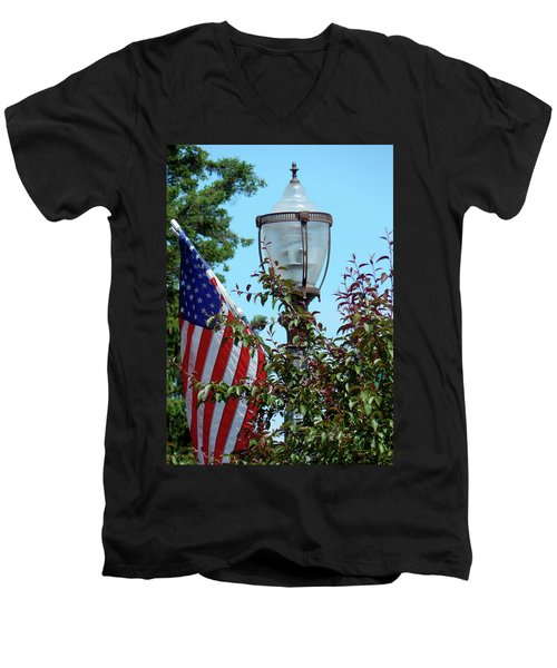 Small Town Anywhere Usa Men's V-Neck T-Shirt