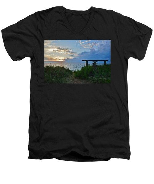 Small World Sunrise   Men's V-Neck T-Shirt