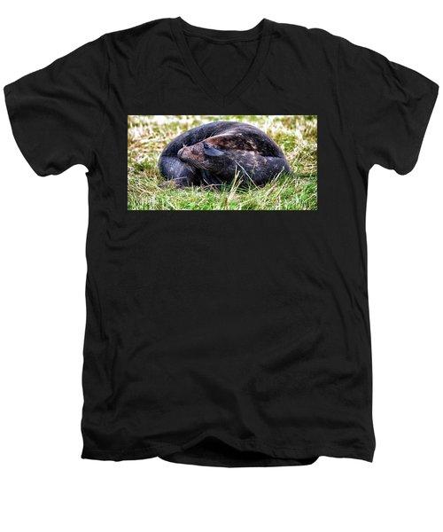 Smiler Men's V-Neck T-Shirt