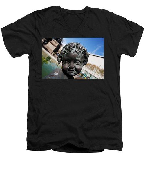 Smiling Cherub Men's V-Neck T-Shirt