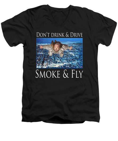 Smoke And Fly Men's V-Neck T-Shirt by Tom Roderick
