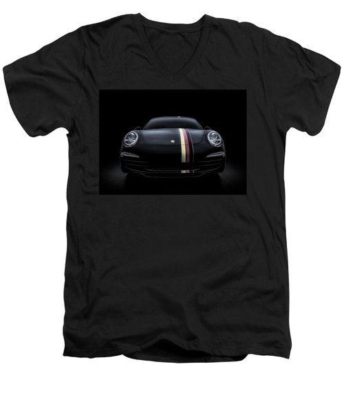 Smoke-stack Lightning Men's V-Neck T-Shirt by Douglas Pittman