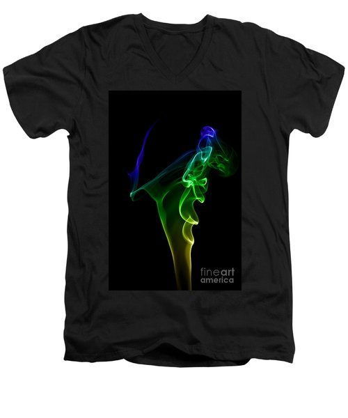Men's V-Neck T-Shirt featuring the photograph smoke XIV by Joerg Lingnau