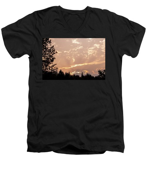 Smokey Skies Sunset Men's V-Neck T-Shirt