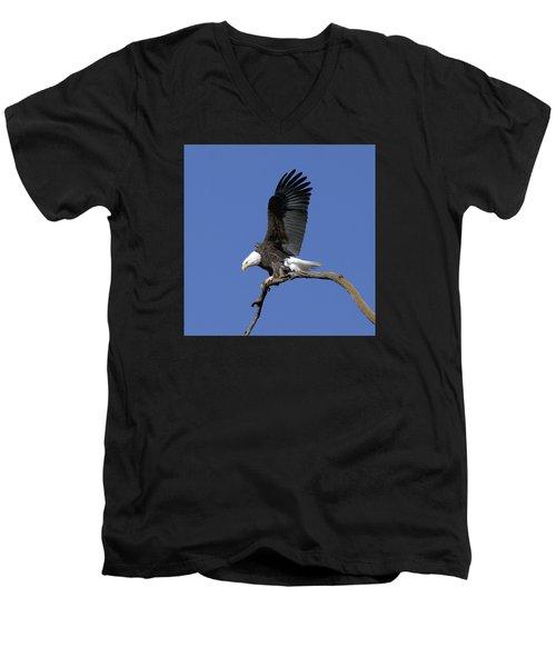Smooth Landing 2 Men's V-Neck T-Shirt by David Lester