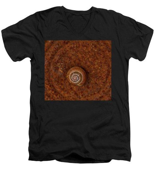 Snail On A Tin Can Men's V-Neck T-Shirt