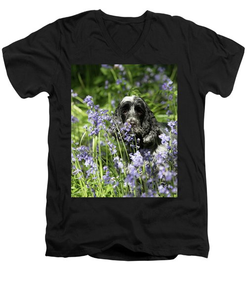 Sniffing Bluebells Men's V-Neck T-Shirt