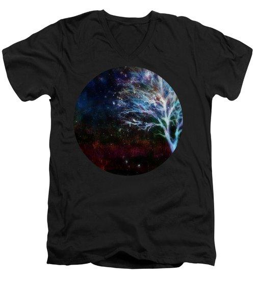 Snow At Twilight Men's V-Neck T-Shirt