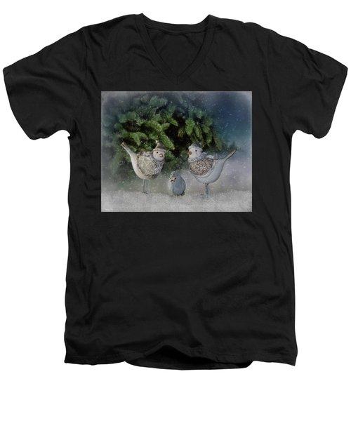 Snow Birds Men's V-Neck T-Shirt
