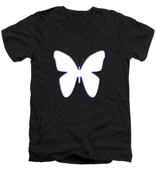 Snow Butterfly Men's V-Neck T-Shirt