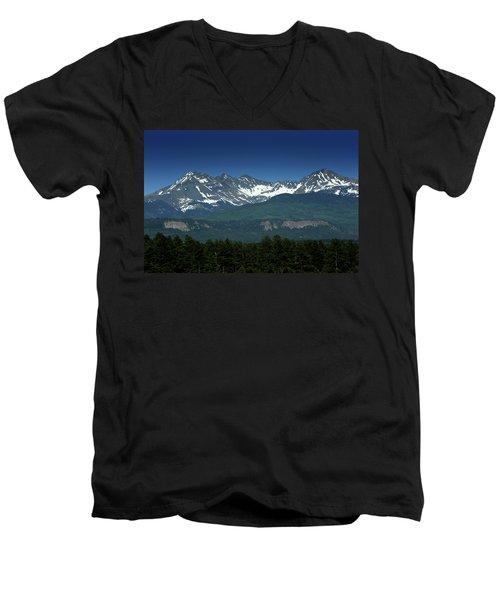 Snow Capped Mountains Men's V-Neck T-Shirt