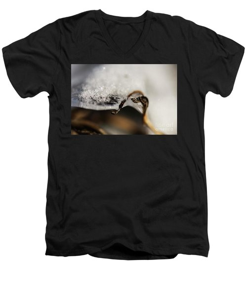 Snow Cryrstals Men's V-Neck T-Shirt