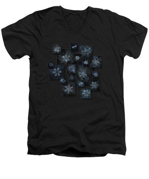 Snowflake Collage - Dark Crystals 2012-2014 Men's V-Neck T-Shirt