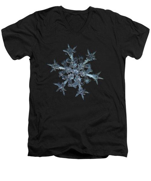 Snowflake Photo - Starlight Men's V-Neck T-Shirt