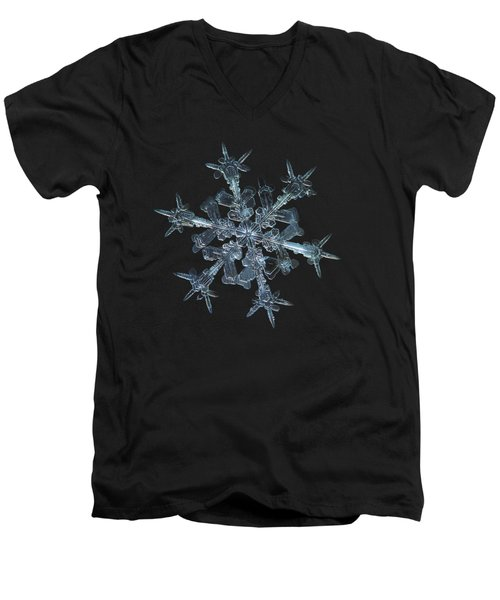 Snowflake Photo - Starlight Men's V-Neck T-Shirt