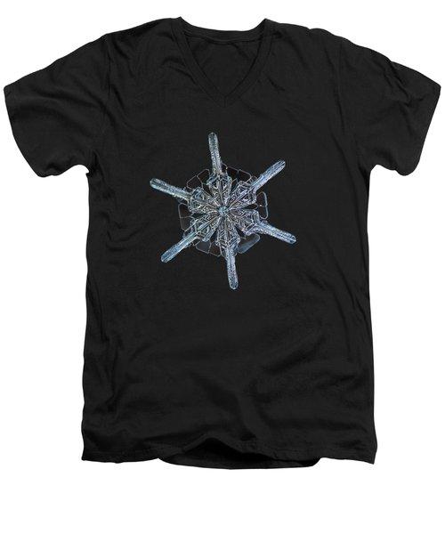 Snowflake Photo - Steering Wheel Men's V-Neck T-Shirt