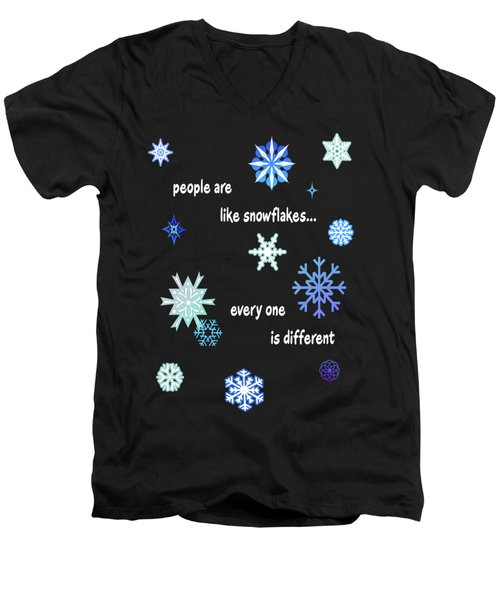 Snowflakes 4 Men's V-Neck T-Shirt by Methune Hively