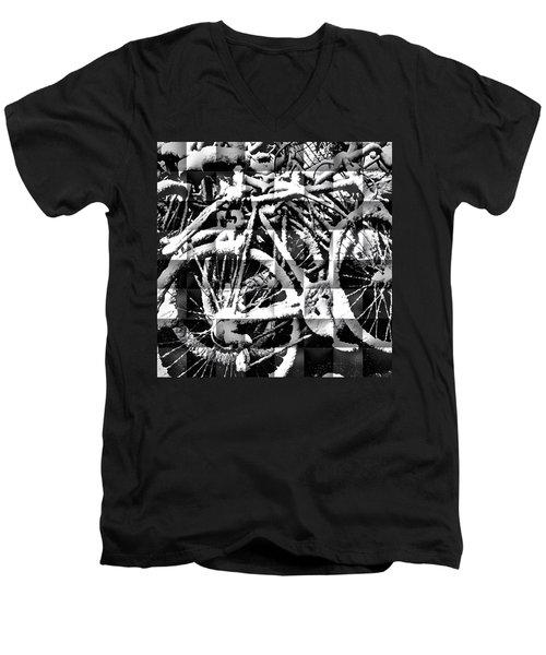 Snowy Bike Men's V-Neck T-Shirt