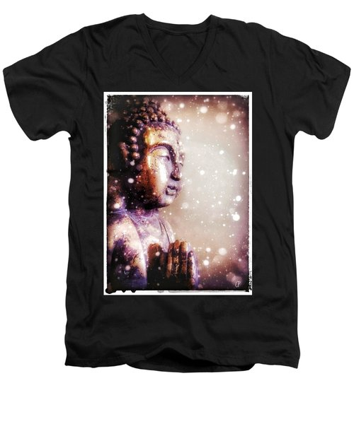 Snowy Buddha Men's V-Neck T-Shirt