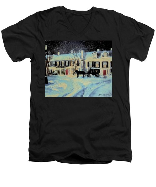 Snowy Night At The Inn Men's V-Neck T-Shirt