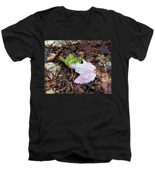 Soaken Leaves Men's V-Neck T-Shirt